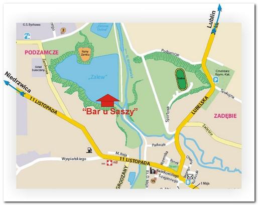 mapka dojazdu do Baru u Saszy