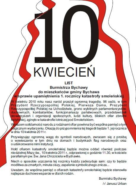 plakat 10 kwietnia 2011