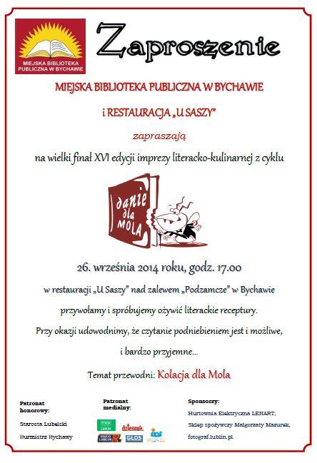 2014-09-23 kolacja dla Mola zaproszenie www